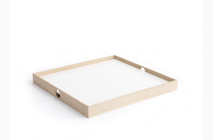 Hvid og sort Flip Tray, mellem bakke, the_oak_men
