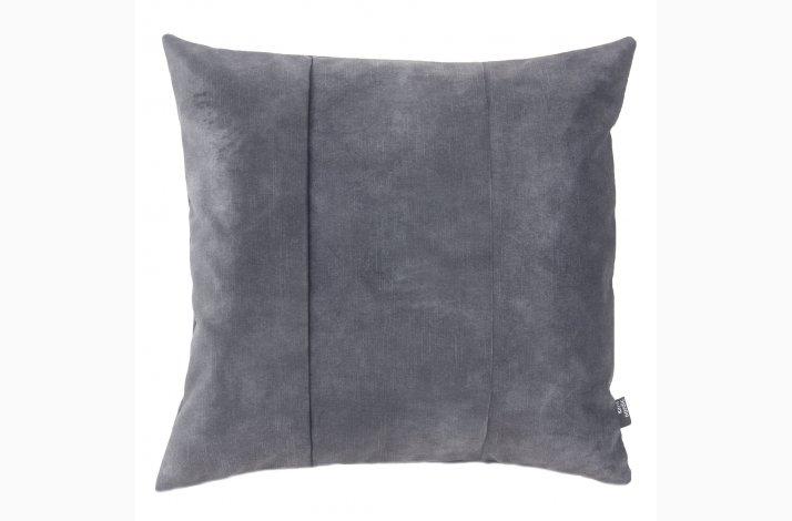 Pude Mila Antracit 48x48 - Mørkegrå velourpude