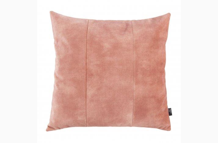 Pude Mila Blossom 48x48 - ferskenfarvet velourpude